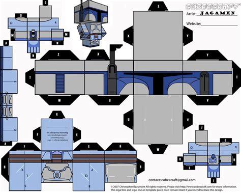 Boba Fett Papercraft - jango fett cubeecraft by jagamen on deviantart