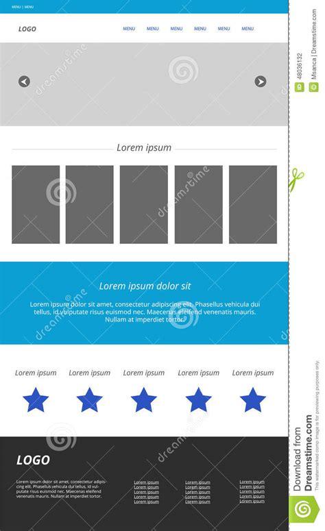Modern Responsive Web Template Stock Vector Image 48036132 Modern Responsive Website Templates