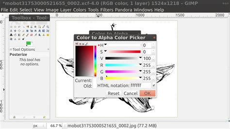 gimp color to alpha gimp colour to alpha