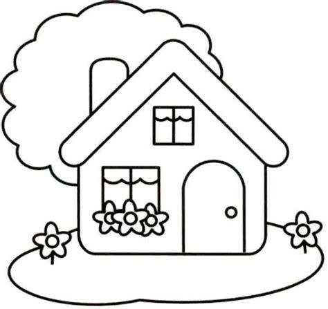 imagenes para pintar la casa dibujo de casita casitas infantiles pinterest
