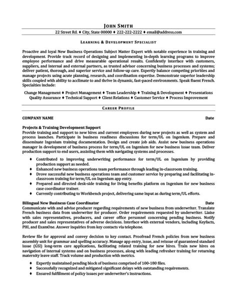 Resume Exles Learner Learning And Development Specialist Resume Template Premium Resume Sles Exle