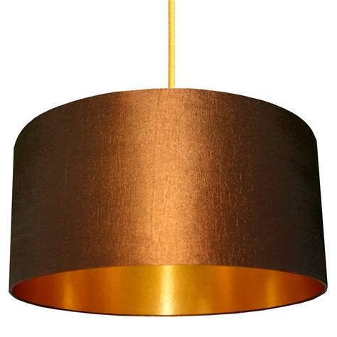 Handmade Copper L Shades - gold or copper lined lshade in chestnut by frankie
