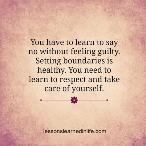 Learn To Make A No by Lessons Learned In Lifelearn To Say No Lessons Learned