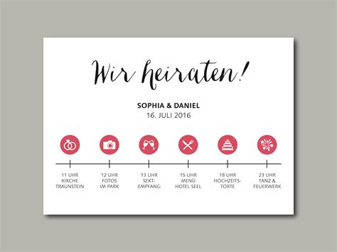 Hochzeitseinladung Zeitstrahl hochzeitseinladung timeline