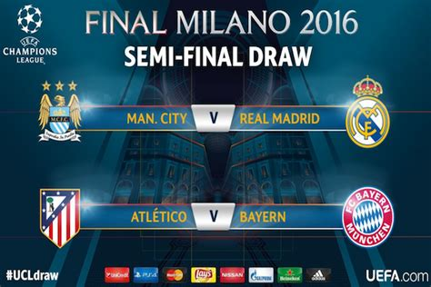 chions league draw league des chions 2015 2016 sorteggio semifinali chions