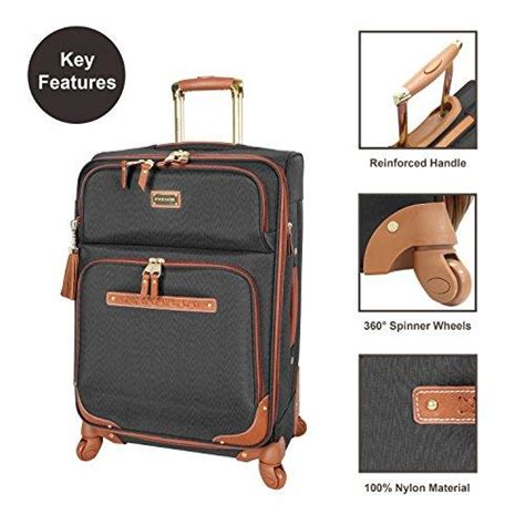 Steve Madden 4 Luggage With Spinner Wheels by Shop Steve Madden 4 Luggage With Spinner Wheels Black Luggage Factory