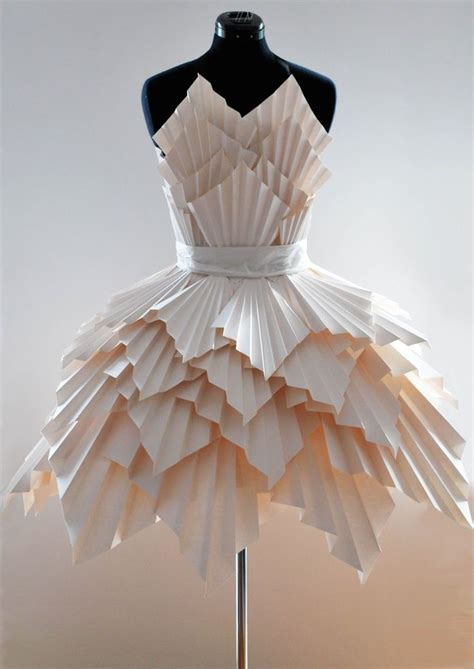 How To Make A Paper Dress - paper dresses paper wearable