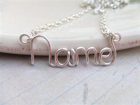 how to make wire name jewelry silver name necklace personalized name by deannewatsonjewelry