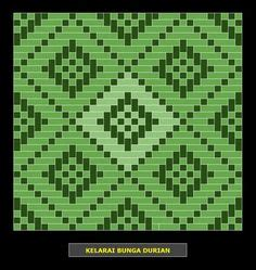 bunga tanjung pattern kelarai siku keluang weaving patterns kelarai pinterest