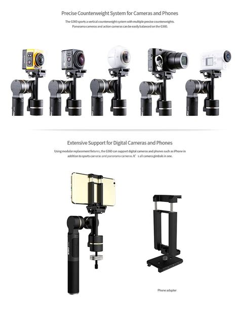 Feiyu Tech G360 Panorama Handheld Gimbal Black Hitam feiyu tech g360 panoramic handheld gimbal black