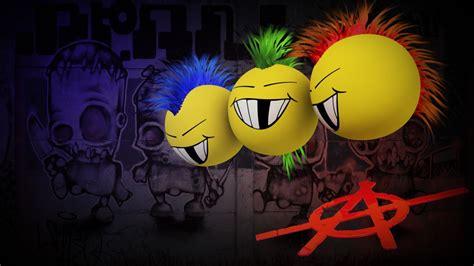 anarchy mohawk dark graffiti punk mohawk cartoon smiley