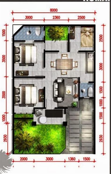 design interior rumah luas 60 m dapatkan denah rumah minimalis banyak pilihan dan gratis