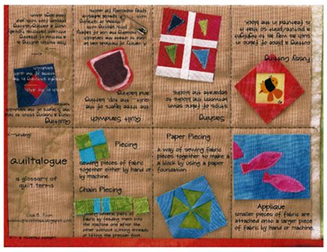 Quilting Terminology by Quot Quiltalogue Quot A Mini Book Glossary Of Quilt Terms Sew