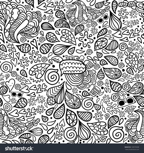 doodle pattern background cute cartoon doodle hipster seamless pattern stock vector