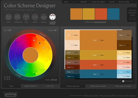 Color Scheme Selector by Links Acemi 231 Aylak