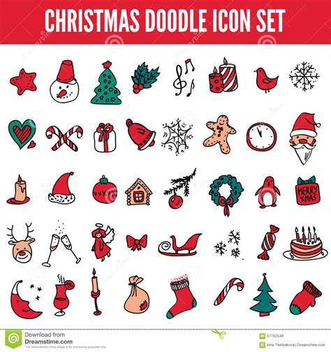 free doodle icon set icon set in color vector doodle illustration