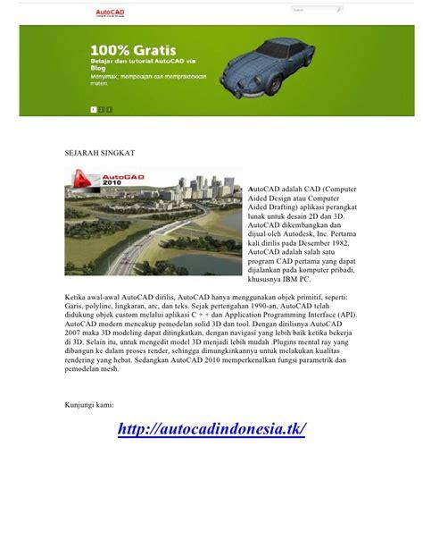 Tutorial Autocad Versi Bahasa Indonesia | belajar tutorial autocad versi indonesia