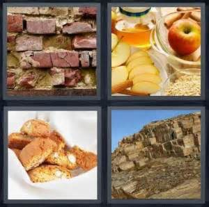 4 Letter Words Apple 4 pics 1 word answer for bricks apples cookies rocks
