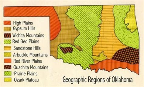 geographical map of oklahoma this and that newsletter