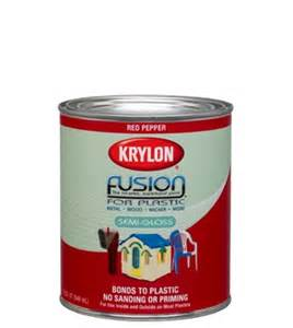 krylon introduces the first brush on paint for plastic