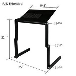 Furinno Adjustable Laptop Desks Furinno Ergonomic Aluminum Vented Adjustable Laptop Desk Bed Tray
