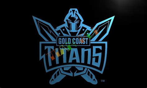 home decor gold coast ld376 gold coast titans led neon light sign home decor