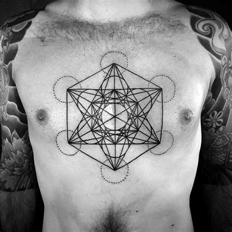 chest tattoo lines 60 geometric chest tattoos for men upper body design ideas