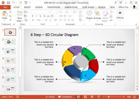 Using Circular Diagrams To Model A Process Cycle In Powerpoint Powerpoint Smartart Cycle Templates