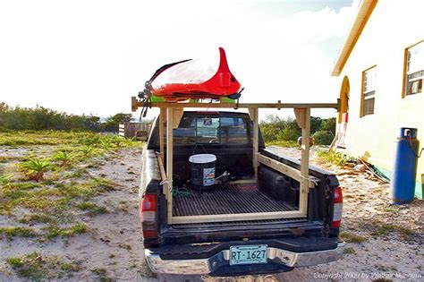 truck bed kayak rack wooden kayak rack for truck bed woodproject