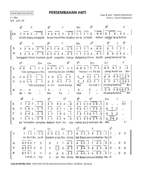 not angka lagu rohani mengejar hadirmu imakulatanadia com teks partitur not angka kunci orgen lagu misa gereja katholik