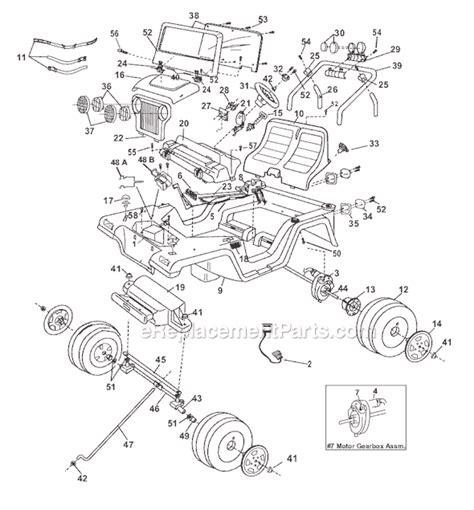 power wheels jeep wrangler   ereplacementpartscom