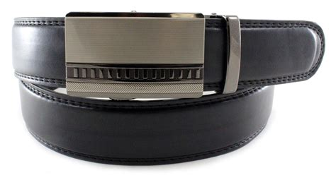 s black genuine bonded leather ratchet belt formal