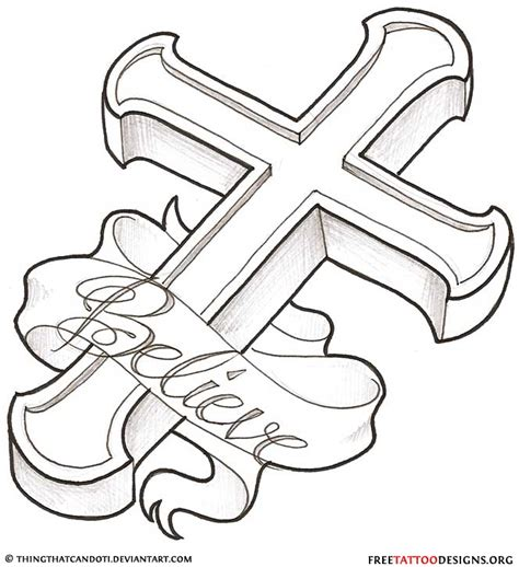 believe cross tattoo design in 2017 real photo pictures