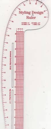 styling design ruler in pattern making rulers in fashion styling design ruler 033262108320