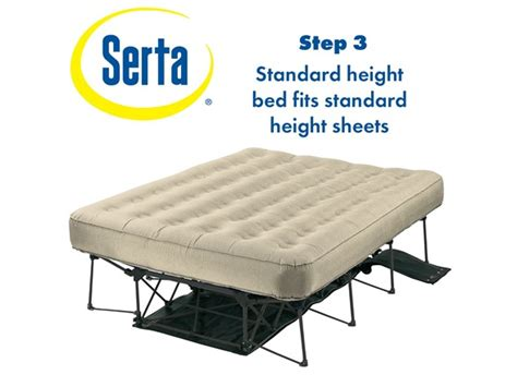 serta ez bed serta ez bed queen with never flat pump
