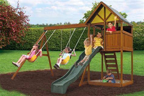 slide and swing balmoral climbing frame swings slides and sandpits area