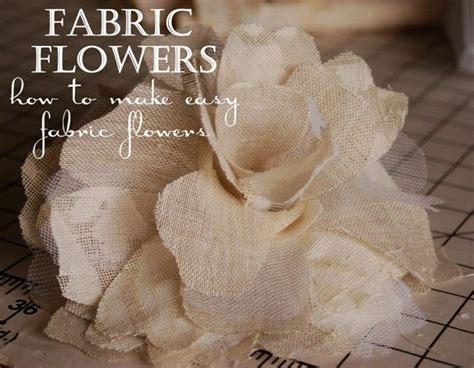 come fare fiori in tessuto oltre 25 idee originali per fiori in tessuto su