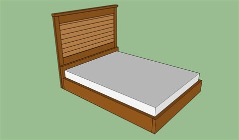 How To Build A Wooden Bed Frame Howtospecialist How To How To Build A Bed Frame