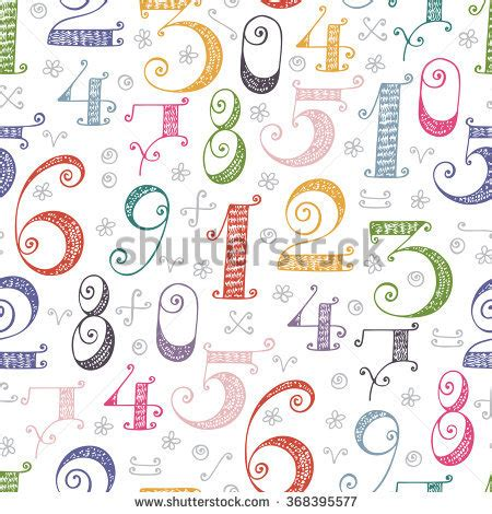 numbers pattern vector multicolored mathematics stock photos images pictures