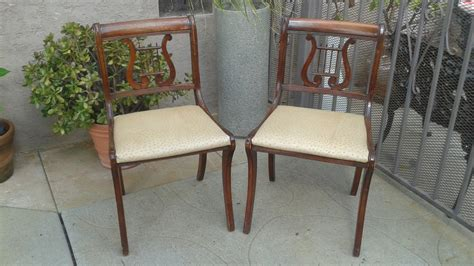 duncan phyfe lyre back dining chairs set of 2