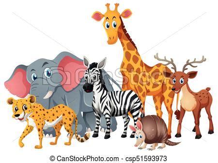 wild animals   group eps clip art csp