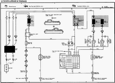 electrical wiring diagram toyota hiace toyota engine