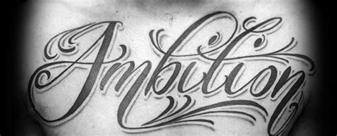 ambitious tattoos 30 ambition design ideas for word ink ideas