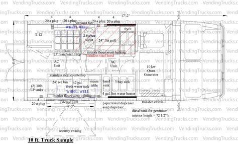 food truck sample floor plans foodtrucksnet