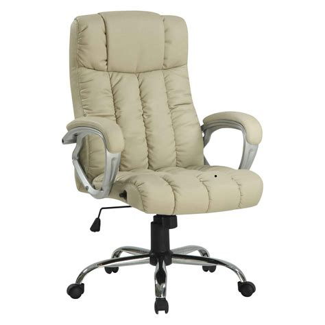 White leather desk chair emerald bonded white leather