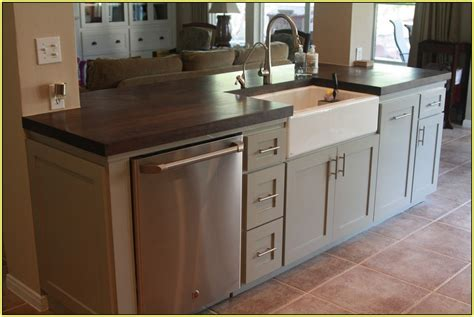 kitchen island with sink and dishwasher home design ideas