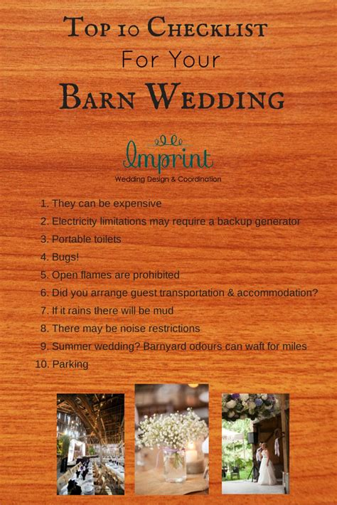 Wedding Checklist Ontario by If You Re Planning A Barn Wedding You Ll Need My Top 10