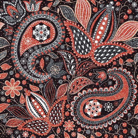 paisley pattern vector download red paisley seamless pattern with flowers royalty free