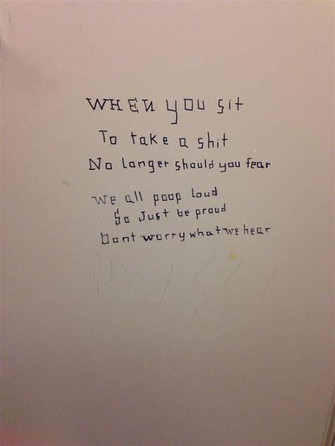 bathroom wall poetry best bathroom stall poem meme guy