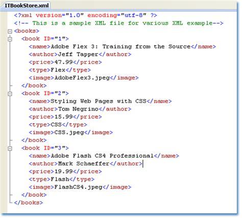 xml tutorial asp net c a sle xml file source code for various asp net xml exle